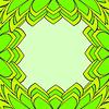 抽象的树叶。   向量插图