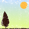 Vector clipart: alone tree.