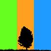 Vector clipart: alone tree.