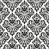 Vector clipart: Damask wallpaper