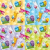 Vector clipart: Seamless easter pattern