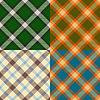 Vector clipart: Color plaid patterns set