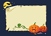 Halloween card, no gradients | Stock Vector Graphics