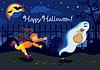 Vector clipart: Halloween card