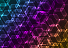 Vector clipart: Abstract background with transparent colored hexagons
