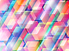Abstract background with colored hexagons | Stock Vector Graphics