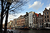 Amsterdam canal view with boats | Stock Foto