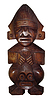 Photo 300 DPI: wood handmade Peru statue - god Tumi -