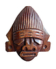 Photo 300 DPI: wood handmade Peru statue - head of god Tumi -