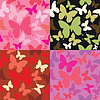 abstract backgrounds with butterflies siluetes