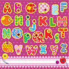 Vector clipart: Patchwork ABC alphabet - letters are made of