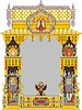 Vector clipart: Russian ornate decorative frame with two-headed eagle