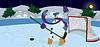 Векторный клипарт: Снежный человек машет привет баннер