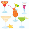 Vector clipart: Cocktail-icon-set