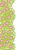 Векторный клипарт: Декоративный элемент бесшовные с розовыми цветами