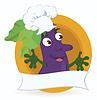 Eggplant cartoon character