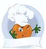 Векторный клипарт: Оранжевый мультяшный
