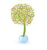 Векторный клипарт: Дерево с розовыми цветами