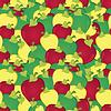 Векторный клипарт: Яблоки бесшовные модели
