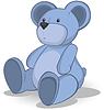 Векторный клипарт: Синий мишка