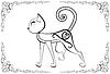 Векторный клипарт: Cat-с-татуировка