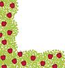 Векторный клипарт: Декоративный уголок с красными яблоками