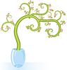 Векторный клипарт: Декоративное дерево цветами копией пространства