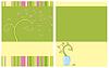 Векторный клипарт: Цветочные живодер двух сторон