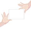 Векторный клипарт: Человека руках держит чистый лист бумаги