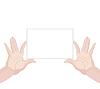 Векторный клипарт: Человека руках держит пустой горизонтальной бумаги