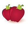 Векторный клипарт: Два яблока