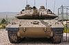 Israeli Merkava tank in Latrun Armored Corps museum | Stock Foto
