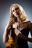 ID 3351512 | Woman with violin | High resolution stock photo | CLIPARTO