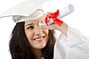 Photo 300 DPI: Happy student celebrating graduation