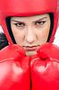 女拳击手 | 免版税照片