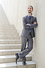 Businessman with stair in business concept | Stock Foto