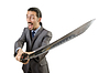 Businessman with sword | Stock Foto