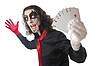 Photo 300 DPI: Joker with playing cards