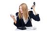 Businesswoman talking on phone | Stock Foto