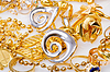 Large collection of gold jewellery | Stock Foto