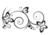 Vector clipart: vignette with butterflies