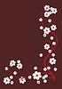 Векторный клипарт: виньетка цветения ветви