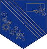 Denim embroidered pocket | Stock Vector Graphics