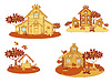 ID 3352485 | Wooden country houses | Stock Vector Graphics | CLIPARTO