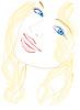 Векторный клипарт: Голубоглазая девушка
