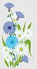 Векторный клипарт: Полевые цветы
