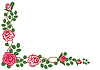 Vector clipart: Circular vignette of roses