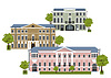 Vector clipart: houses in old town