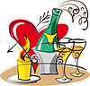 Vector clipart: Champagne for lovers