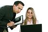 ID 3357014   一个男人和女人的业务团队在他们的公司办公室   高分辨率照片   CLIPARTO